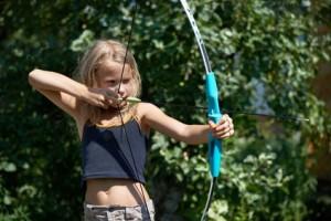 Tir à l'arc durant les séjours sportifs au camping La Pègue en Cévennes